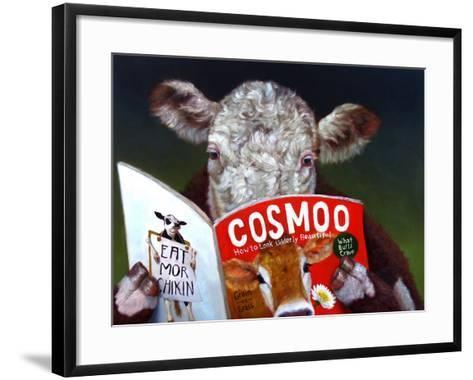 Cow Tips-Lucia Heffernan-Framed Art Print