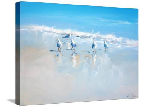 Sorrento Gulls-Craig Trewin Penny-Stretched Canvas Print