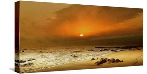 The Beach-Adelino Gon?alves-Stretched Canvas Print