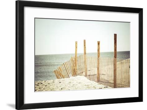 Wooden Beach Fence-Jessica Reiss-Framed Art Print