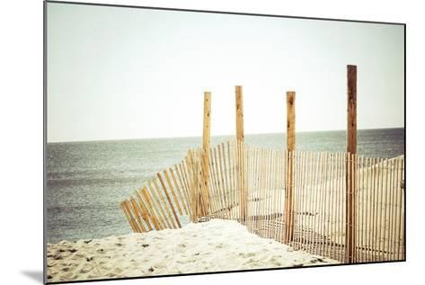 Wooden Beach Fence-Jessica Reiss-Mounted Photographic Print