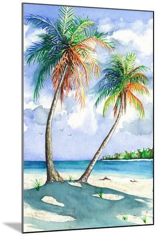 Palm Shadows-Christine Reichow-Mounted Art Print