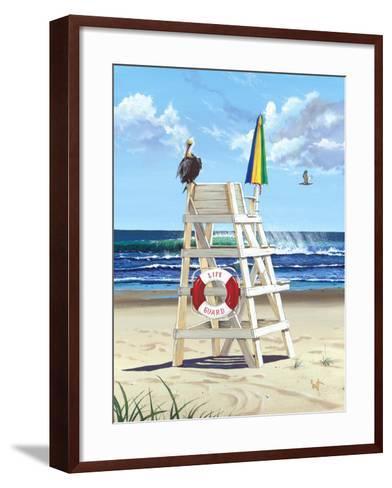 Pelican Perch-Scott Westmoreland-Framed Art Print