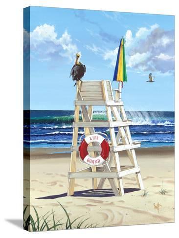 Pelican Perch-Scott Westmoreland-Stretched Canvas Print
