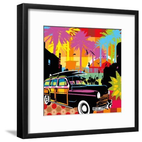 California-Lobo-Framed Art Print