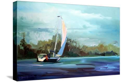 Sailboat-Carol Hallock-Stretched Canvas Print