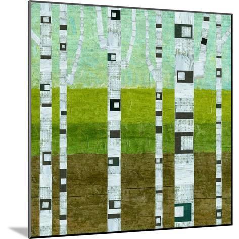 Summer Birches-Michelle Calkins-Mounted Art Print