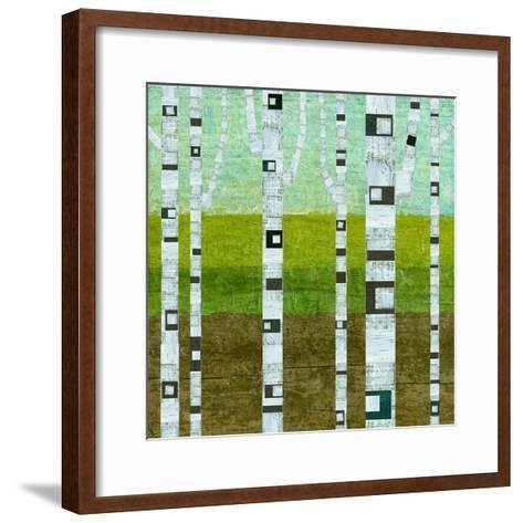 Summer Birches-Michelle Calkins-Framed Art Print
