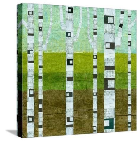 Summer Birches-Michelle Calkins-Stretched Canvas Print