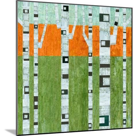 Spring Birches-Michelle Calkins-Mounted Art Print