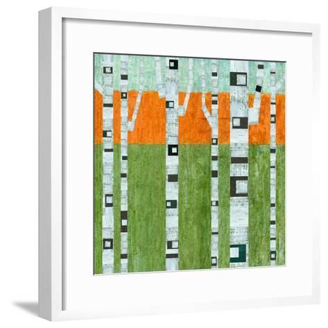 Spring Birches-Michelle Calkins-Framed Art Print