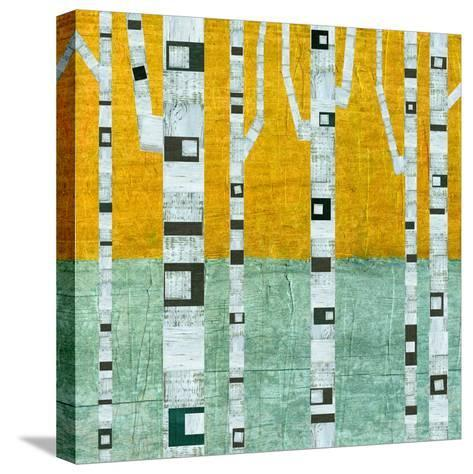 Early Winter Birches-Michelle Calkins-Stretched Canvas Print
