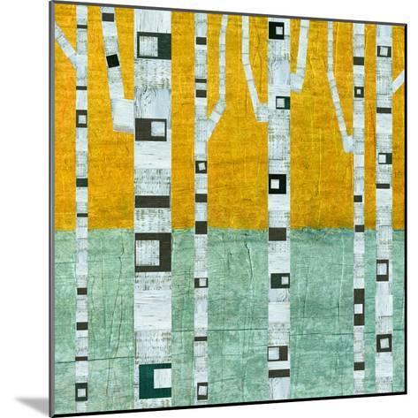 Early Winter Birches-Michelle Calkins-Mounted Art Print