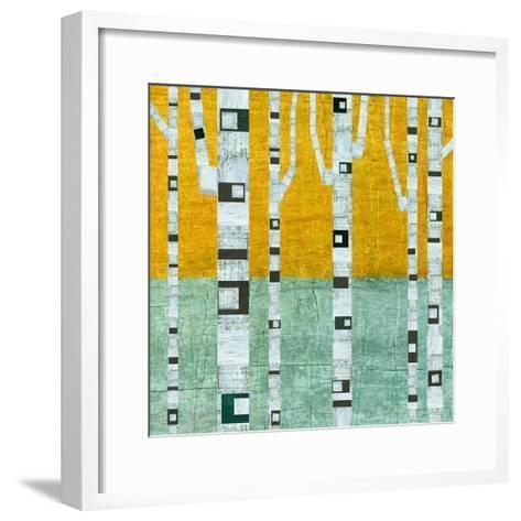 Early Winter Birches-Michelle Calkins-Framed Art Print