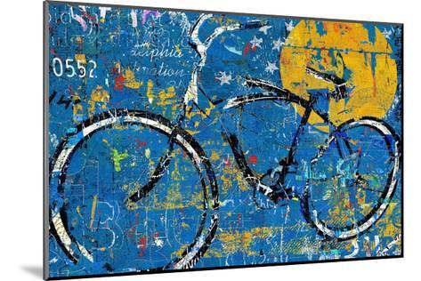 Blue Graffiti Bike-Daryl Thetford-Mounted Art Print