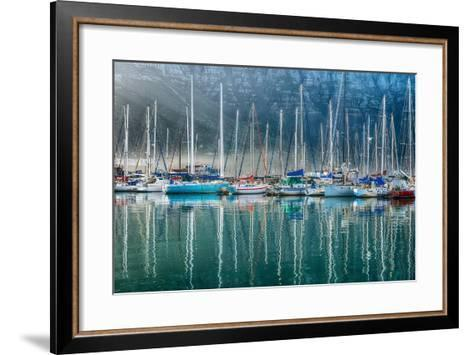 Hout Bay Harbor, Hout Bay South Africa-Richard Silver-Framed Art Print