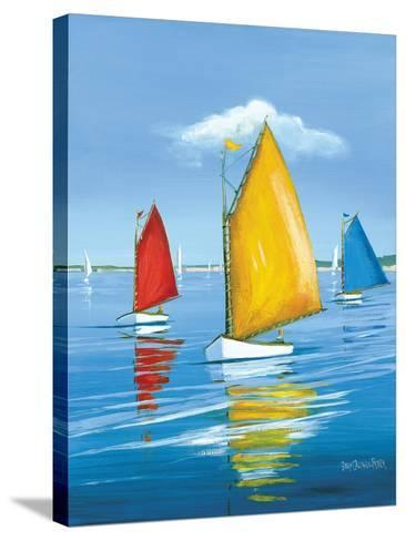 Newport Regatta-Sally Caldwell Fisher-Stretched Canvas Print