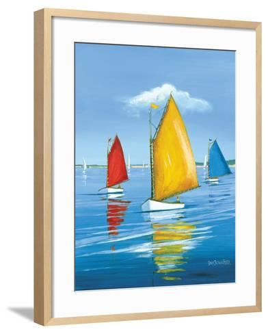 Newport Regatta-Sally Caldwell Fisher-Framed Art Print