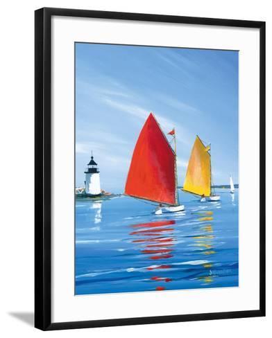 Horizon Light-Sally Caldwell Fisher-Framed Art Print