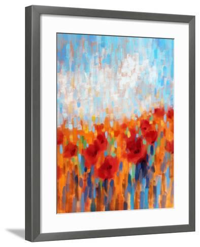 Poppy Walk-Claire Hardy-Framed Art Print