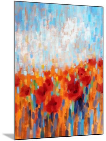 Poppy Walk-Claire Hardy-Mounted Art Print
