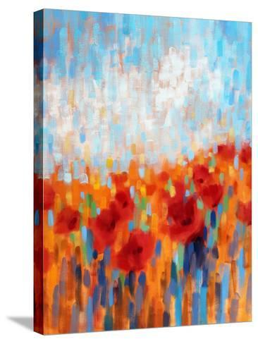 Poppy Walk-Claire Hardy-Stretched Canvas Print