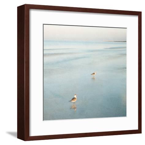 Two Birds on Beach-John Juracek-Framed Art Print