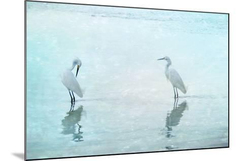 White Cranes-Hannes Cmarits-Mounted Photographic Print