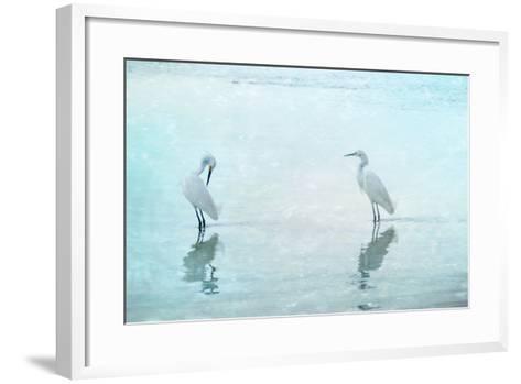 White Cranes-Hannes Cmarits-Framed Art Print