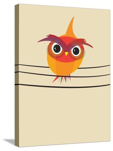 Owl on a Wire-Volkan Dalyan-Stretched Canvas Print