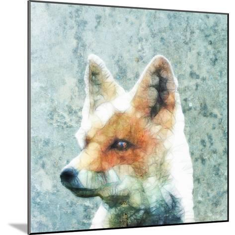 Abstract Fox-Ancello-Mounted Art Print