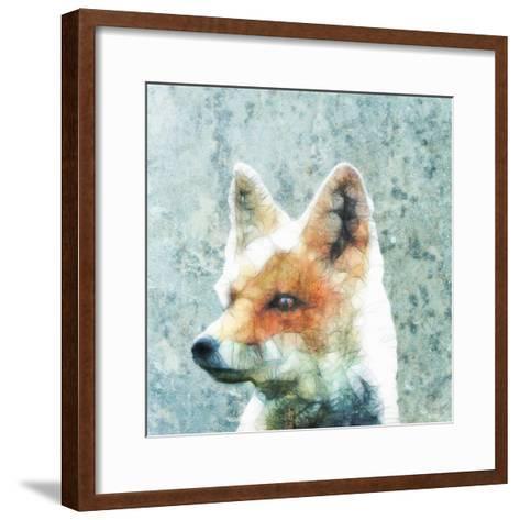 Abstract Fox-Ancello-Framed Art Print