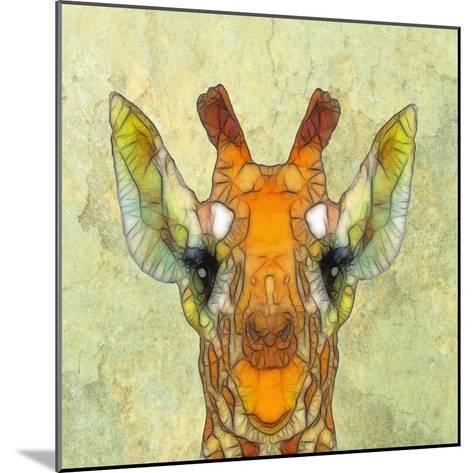 Abstract Giraffe Calf-Ancello-Mounted Art Print