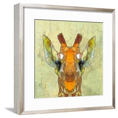 Abstract Giraffe Calf-Ancello-Framed Art Print