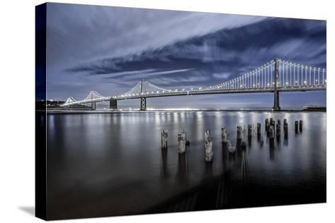 The Bay Lights-Toby Harriman Visuals-Stretched Canvas Print