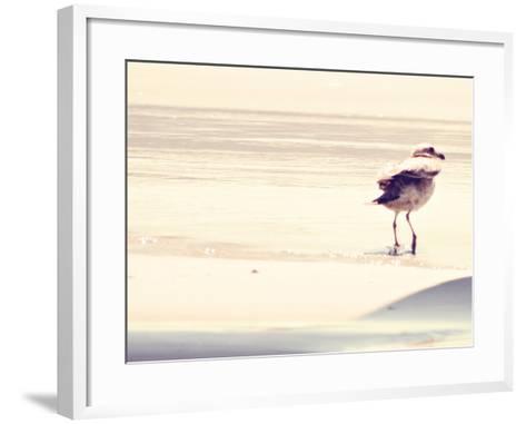Bird at The Beach-Sylvia Coomes-Framed Art Print