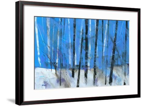 Birch and Black Ash Saplings-Paul Bailey-Framed Art Print