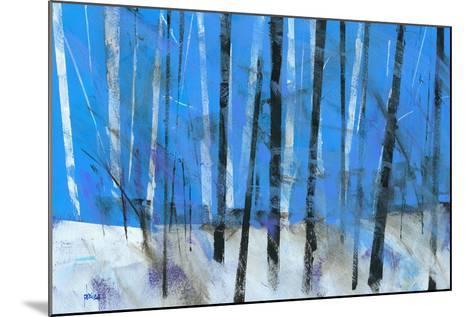 Birch and Black Ash Saplings-Paul Bailey-Mounted Art Print