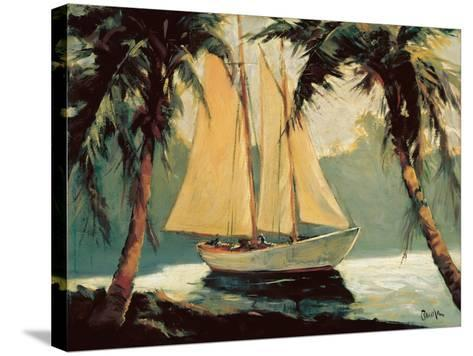 Sailboat, Santa Barbara-Frederick Alexander Pawla-Stretched Canvas Print