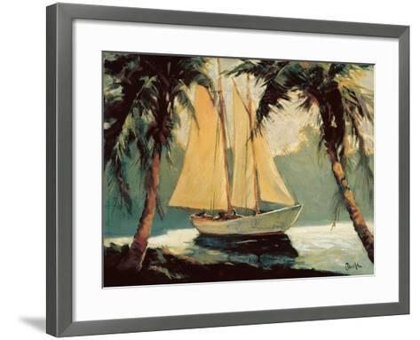 Sailboat, Santa Barbara-Frederick Alexander Pawla-Framed Art Print