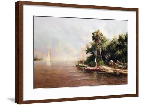 Fisherman Landing-Art Fronckowiak-Framed Art Print