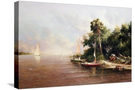Fisherman Landing-Art Fronckowiak-Stretched Canvas Print