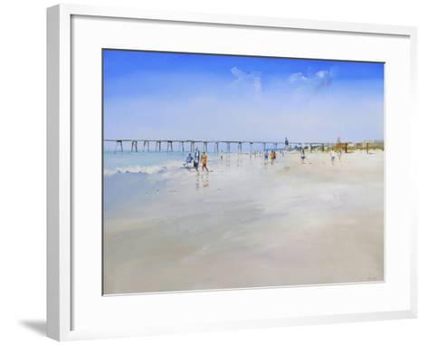 Henley Pier-Craig Trewin Penny-Framed Art Print