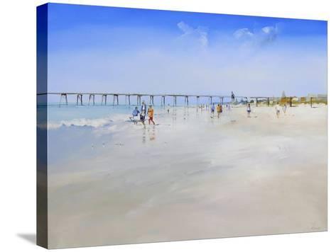 Henley Pier-Craig Trewin Penny-Stretched Canvas Print