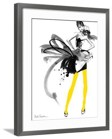 Yellow Tights-Aasha Ramdeen-Framed Art Print