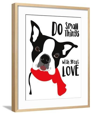 Do Small Things with Great Love-Ginger Oliphant-Framed Art Print