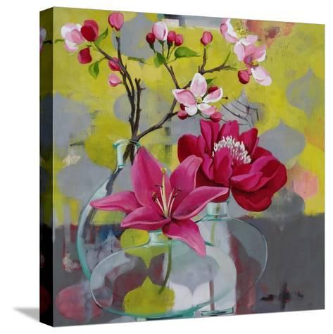 Apple Blossom Trio-Jennifer Rasmusson-Stretched Canvas Print
