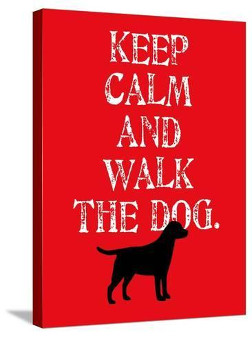 Keep Calm (Labrador)-Ginger Oliphant-Stretched Canvas Print