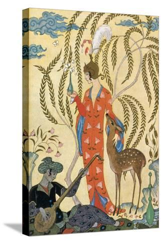 Persia-Georges Barbier-Stretched Canvas Print