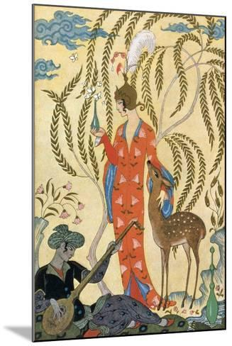 Persia-Georges Barbier-Mounted Art Print